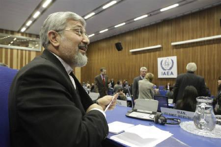 Iran's International Atomic Energy Agency IAEA ambassador Ali Asghar Soltanieh reacts as he attends a board of governors meeting at the UN headquarters in Vienna in this February 12, 2010 file photo. REUTERS/Herwig Prammer