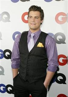 Levi Johnston poses at the 14th annual GQ magazine ''Men of the Year'' party in Los Angeles November 18, 2009. REUTERS/Mario Anzuoni
