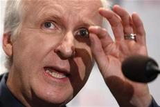 "<p>Film director and Lightstorm Entertainment Chairman James Cameron answers a reporter's question during a news conference after he delivered a keynote address titled ""Renaissance now in imagination and technology"" at the Seoul Digital Forum 2010 in this May 13, 2010 file photo. REUTERS/Jo Yong-Hak</p>"
