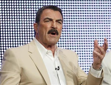 Actor Tom Selleck talks about his show ''Blue Bloods'' during the CBS, Showtime and the CW Television Critics Association press tour in Beverly Hills, California, July 28, 2010. REUTERS/Lucy Nicholson