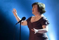 """<p>Susan Boyle canta """"I Dreamed a Dream"""" em evento beneficente em Copenhague, em janeiro. A cantora escocesa disse na quarta-feira que se apresentar diante do papa Bento 16 será """"a realização de meu maior sonho"""". 30/01/2010 2010. REUTERS/Arquivo</p>"""