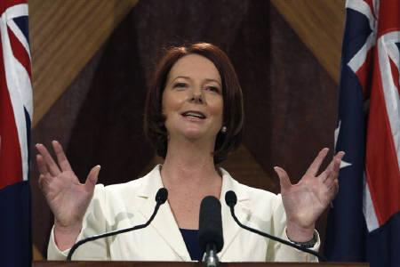 Australia's Prime Minister Julia Gillard speaks at a news conference in Melbourne August 22, 2010. REUTERS/Mick Tsikas