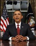 <p>Президент США Барак Обама делает заявление по поводу окончания военной операции США в Ираке, 31 августа 2010 года. Барак Обама во вторник объявил о завершении семилетней военной операции США в Ираке и пообещал американцам сосредоточиться на восстановлении экономики. REUTERS/Jim Young</p>