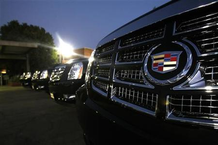 Vehicles for sale are parked at a Cadillac dealer in Sherman Oaks, California August 17, 2010. REUTERS/Mario Anzuoni