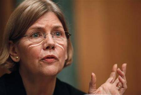 Congressional Oversight Panel Chair Elizabeth Warren questions Assistant Treasury Secretary for Financial Stability Herbert Allison on the government's assistance to Citigroup during a hearing in Washington March 4, 2010. REUTERS/Richard Clement