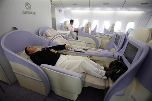 Luxury first-class flying