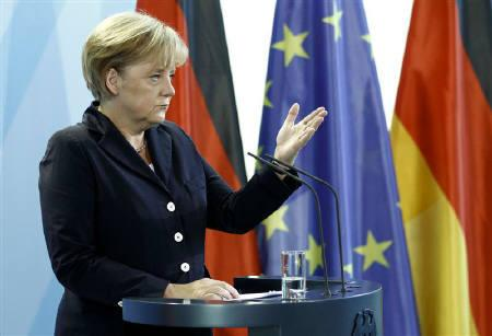 German Chancellor Angela Merkel makes a statement to the media at the chancellery in Berlin September 6, 2010. REUTERS/Fabrizio Bensch