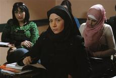 "<p>The heroine Leila, played by Syrian actress Sulafa Memar, is seen in a scene from the television series ""What your right hand possesses"" in this undated handout. Director Najdat Anzour told Reuters in an interview on September 6, 2010 that his series could help stop an Arab slide towards extremism. REUTERS/Handout</p>"