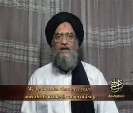 Al Qaeda's deputy leader Ayman al-Zawahri speaks in an image taken from video footage released on April 29, 2006. REUTERS/Handout/Files