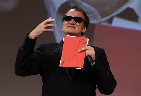 U.S. director and jury's president Quentin Tarantino gestures during the closing ceremony of the 67th Venice Film Festival September 11, 2010. REUTERS/Tony Gentile