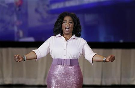 Oprah Winfrey speaks to the audience during a special live show at Radio City Music Hall in celebration of O Magazine's 10th anniversary in New York City, May 7, 2010. REUTERS/Lucas Jackson
