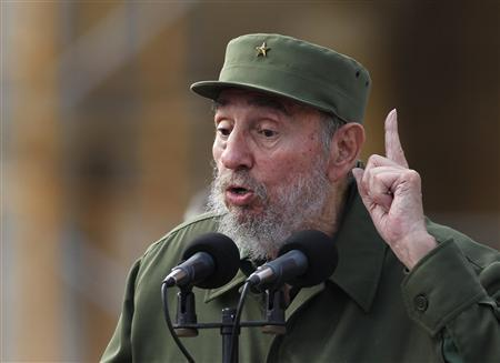 Cuban former leader Fidel Castro speaks during celebrations to commemorate the 50th anniversary of the creation of the Committees for the Defense of the Revolution (CDR) in Havana September 28, 2010. REUTERS/Desmond Boylan