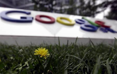 The logo of Google is pictured in front of its former headquarters in Beijing July 12, 2010. REUTERS/Jason Lee/Files