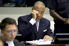 <p>Former Liberian President Charles Taylor is seen at the U.N.-backed Special Court for Sierra Leone in Leidschendam, the Netherlands, August 5, 2010. REUTERS/Vincent Jannink/Pool</p>