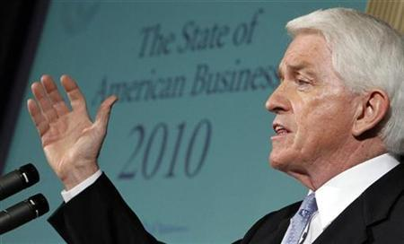 U.S. Chamber of Commerce President Thomas Donohue in Washington, January 12, 2010. REUTERS/Kevin Lamarque