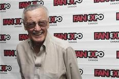 <p>Stan Lee, co-creator of Spider-Man, poses for media at Fan Expo in Toronto, Canada, August 28, 2010. REUTERS/Jill Kitchener</p>