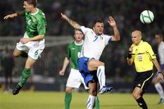 <p>Lance da partida entre Itália e Irlanda do Norte, que terminou em 0 a 0, pelas eliminatórias da Euro 2012. REUTERS/Giampiero Sposito</p>