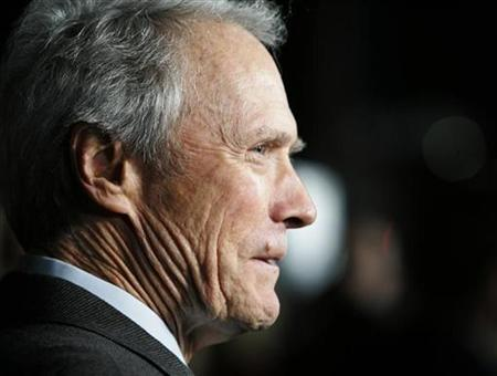 Director Clint Eastwood is interviewed at the Los Angeles premiere of his film ''Invictus'' in Beverly Hills, California December 3, 2009. REUTERS/Fred Prouser