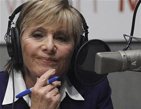 U.S. Senator Barbara Boxer (D-CA) participates in a radio debate with U.S. Senatorial Republican opponent Carly Fiorina from inside NPR Studios in Washington September 29, 2010. REUTERS/Jason Reed