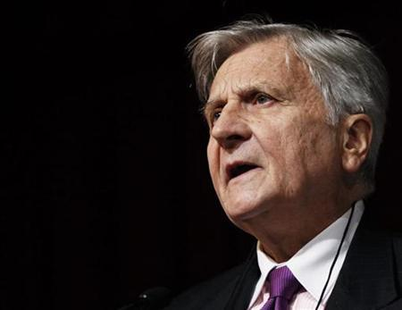 European Central Bank President Jean-Claude Trichet speaks at The Economic Club of New York luncheon in New York October 12, 2010. REUTERS/Lucas Jackson