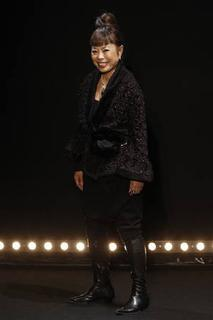 Japanese designer Hiroko Koshino appears at the end of her Fall/Winter 2010/11 women's collection show during Paris Fashion Week on March 4, 2010. REUTERS/Benoit Tessier/Files