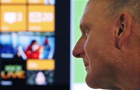 Microsoft CEO Steve Ballmer is seen after the Windows Phone 7 launch in New York, October 11, 2010. REUTERS/Jessica Rinaldi
