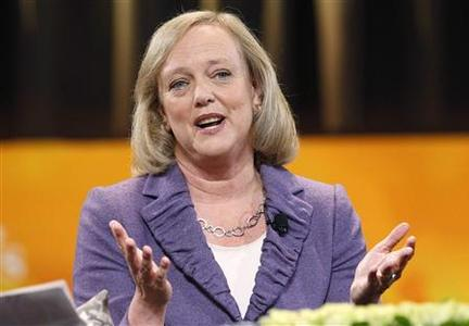 Republican California governor candidate Meg Whitman makes a point during her appearance at the Women's Conference 2010 in Long Beach, October 26, 2010. REUTERS/Mario Anzuoni