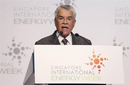 Ali Al-Naimi, Saudi Arabia's Minister of Petroleum and Mineral Resources, speaks during Singapore International Energy Week November 1, 2010. REUTERS/Vivek Prakash
