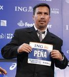 <p>Edison Peña, um dos 33 trabalhadores soterrados numa mina chilena neste ano, planeja disputar no domingo a Maratona de Nova York. REUTERS/Shannon Stapleton</p>