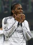 <p>Atacante do Chelsea Didier Drogba está totalmente recuperado após ter sido diagnosticado com malária, disse o técnico Carlo Ancelotti. REUTERS/Max Rossi (IT</p>