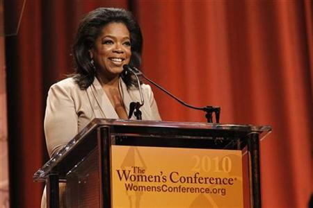 Oprah Winfrey speaks after accepting the Minerva award at ''The Women's Conference 2010'' in Long Beach, California October 26, 2010. REUTERS/Mario Anzuoni