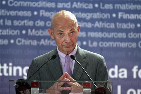 World trade Organisation director general Pascal Lamy reacts during The African Economic Conference (AEC) jointly organized by the African Development Bank (AFDB) and the United Nations Economic Commission for Africa (UNECA) in Tunis in this October 27, 2010 file photo. REUTERS/Zoubeir Souissi