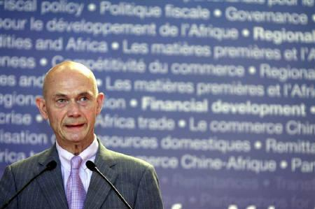 WTO Director General Pascal Lamy speaks during The African Economic Conference (AEC) jointly organized by the African Development Bank (AFDB) and the United Nations Economic Commission for Africa  (UNECA) in Tunis October 27, 2010. REUTERS/Zoubeir Souissi/Files