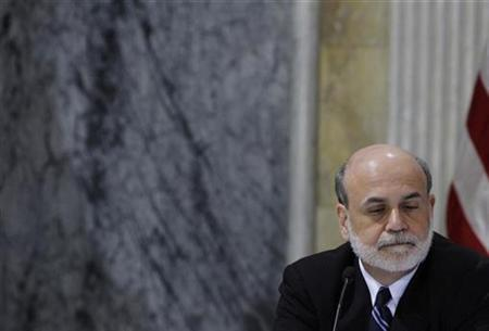 Federal Reserve Board Chairman Ben Bernanke is pictured during the first meeting of the financial stability oversight council to vote on a number of resolutions, at the Treasury Department in Washington, October 1, 2010. REUTERS/Jason Reed