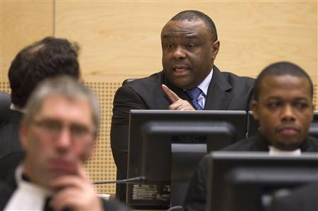 Jean-Pierre Bemba, a former vice president of the Democratic Republic of Congo speaks at the opening of his trial in The Hague November 22, 2010. REUTERS/Michael Kooren