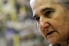 """<p>Munira Subasic, presidente da Associação de Mães das Enclaves de Srebrenica e Zepa que participou do elenco do filme de Ahmed Imamovic, durante entrevista à Reuters. """"Belvedere"""" é o primeiro filme a abordar diretamente o legado do massacre de 1995 em Srebrenica. 22/11/2010 REUTERS/Dado Ruvic</p>"""
