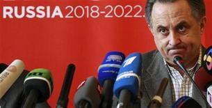<p>Министр спорта РФ Виталий Мутко на пресс-конференции в Цюрихе 30 ноября 2010 года. Россия не будет участвовать ни в каких тайных сговорах ради получения права провести чемпионат мира в 2018 году, сказал министр спорта РФ и по совместительству глава российского заявочного комитета Виталий Мутко. REUTERS/Arnd Wiegmann</p>