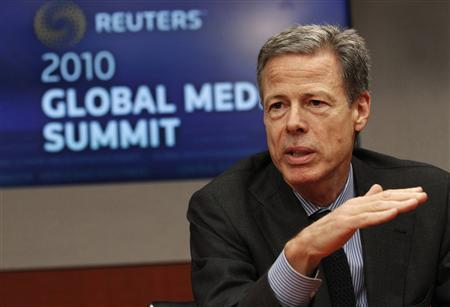 Jeffrey Bewkes, Chairman and CEO of Time Warner Inc. speaks at the Reuters Global Media Summit in New York December 1, 2010. REUTERS/Mike Segar