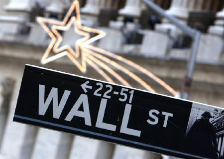 A street sign is seen on Wall Street outside the New York Stock Exchange York January 18, 2008.  REUTERS/Brendan McDermid/Files