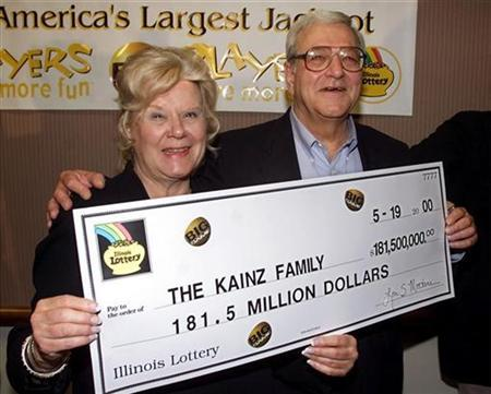 Joe Kainz, who purchased one of two winning tickets from the largest jackpot in U.S. lottery history, is pictured with his wife, Sue, in this file photo. REUTERS/Sue Ogrocki