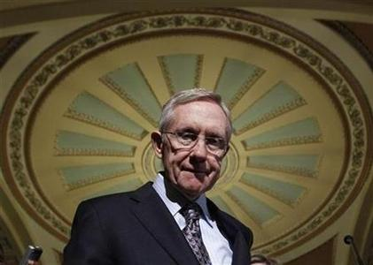 Senate Majority leader Harry Reid (D-NV) leaves a statement about leadership elections on Capitol Hill in Washington, November 16, 2010. REUTERS/Jim Young