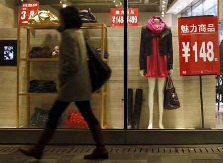 12月11日、11月の中国CPIは前年比+5.1%となり、2年4カ月ぶりの高水準に。北京で10月撮影(2010年 ロイター/David Gray)
