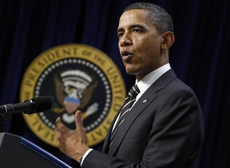 President Barack Obama delivers remarks before the Claims Resolution Act of 2010 at the White House in Washington December 8, 2010. REUTERS/Jim Young