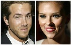 <p>Fotos de arquivo mostram Ryan Reynolds (2005) e Scarlett Johansson (2006). O casal se separou depois de dois anos de casamento. REUTERS/Eric Thayer/Michael Buckner/Arquivos</p>