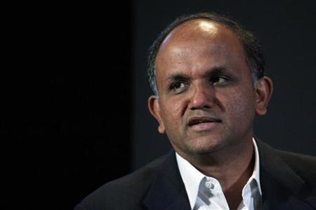 Adobe President and CEO Shantanu Narayen speaks in New York in this June 23, 2010 file photo. REUTERS/Eric Thayer