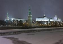 <p>A general view of the Kremlin in Moscow is seen from the frozen Moscow River January 7, 2010. Picture taken January 7, 2010. REUTERS/Sergei Karpukhin</p>