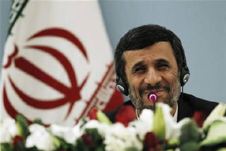 Iranian President Mahmoud Ahmadinejad smiles as he addresses the media during a news conference in Istanbul December 23, 2010. REUTERS/Umit Bektas