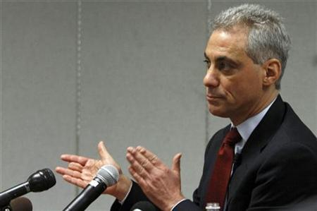 Former White House Chief of Staff Rahm Emanuel in Chicago December 14, 2010. REUTERS/Frank Polich