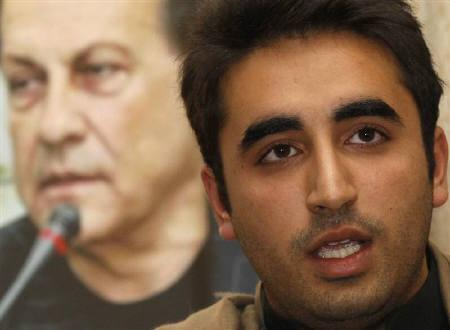 Pakistan People's Party Chairman Bilawal Bhutto speaks during a memorial service for the Governor of Punjab Salman Taseer, at the Pakistan High Commission in London January 10, 2011. On January 4 Taseer was gunned down by one of his bodyguards.  REUTERS/Luke MacGregor