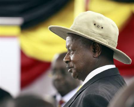 Uganda's President and the leader of ruling National Resistance Movement party Yoweri Museveni attends a ceremony for his nomination as a presidential candidate at Mandela National Stadium in the capital Kampala October 25, 2010. REUTERS/James Akena/Files
